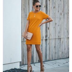 AZALIA Short Sleeve Mini Dress